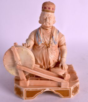 A Rare Late 19th Century Worcester Figure Of Shaban The