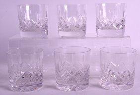 A Set Of Six Cut Crystal Whiskey Glasses. (6)