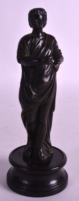 A 17th/18th Century European Bronze Figure Of A Youth