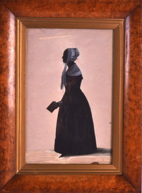 An Early 19th Century Silhouette Contained Within A