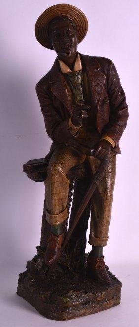 A Good 19th Century Austrian Terracotta Figure By