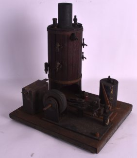 An Unusual 19th Century Model Of A Steam Engine With