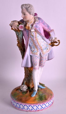 A Late 19th Century French Bisque Porcelain Figure Of A