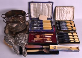 Two Victorian Silver Backed Dressing Tables Brushes