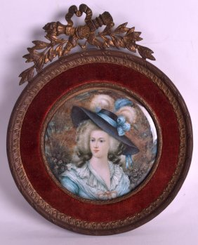 A Late 19th Century Painted Ivory Portrait Miniature