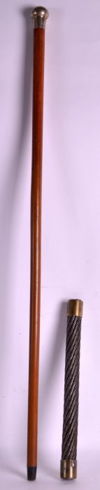 A Late Victorian Silver Topped Malacca Walking Cane