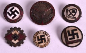 A Group Of Six German Military Enamel Badges. (6)