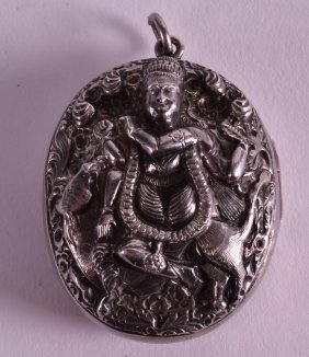 A 19th Century South East Asian White Metal Locket