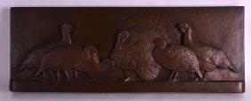 American School (c1936) Bronze Plaque, Signed A