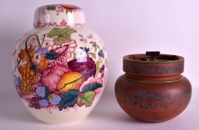 A Late 19th Century Pottery Tobacco Jar And Cover