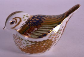 A Boxed Royal Crown Derby Paperweight 'firecrest'.