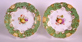 A Pair Of Mid 19th Century English Porcelain Plates
