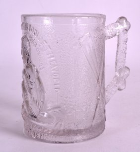 An Unusual English Pressed Glass Tankard By Henry