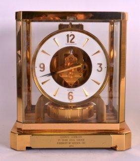 A Jaegar Le Coultre Atmos Clock No. 418375. 9ins High.