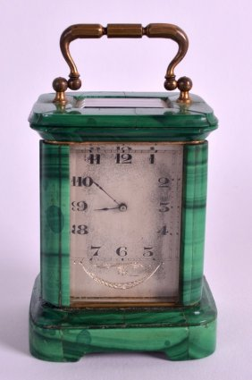 A Lovely Late 19th Century Carved Malachite Miniature