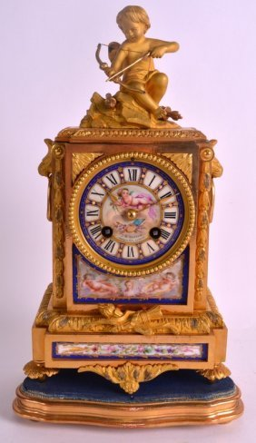 A Good 19th Century French Ormolu And Sevres Porcelain