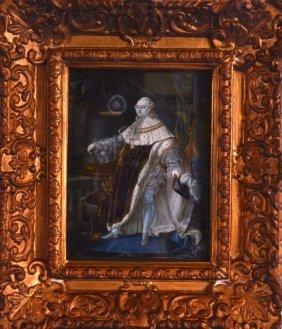 A Fine 18th Century Portrait Of Louis Xvi C1793