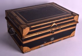 A Mid 19th Century English Toleware Tin Rectangular