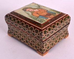 An Early 20th Century Persian Mosaic Box Inset With A