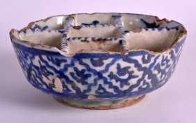 A 17th Century Persian Blue And White Multi Section