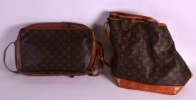Two Vintage Louis Vuitton Bags. (2)