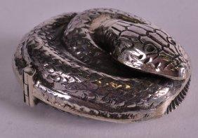 A Novelty Silver Snake Vesta Case.