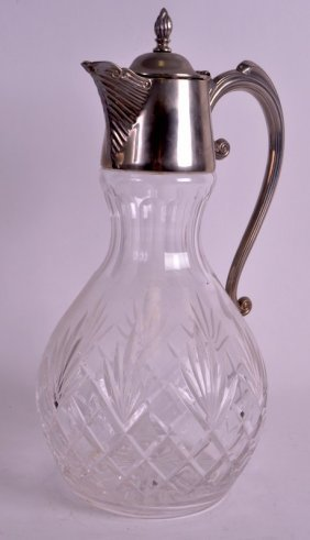An Early 20th Century Silver Plated And Crystal Claret