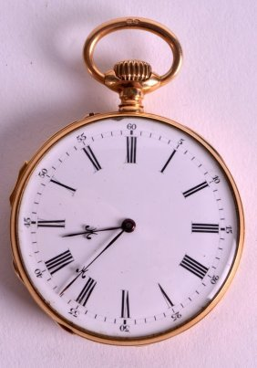 A Good 18ct Yellow Gold Gentlemans Pocket Watch With