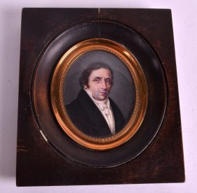 An Early 19th Century Continental Painted Portrait