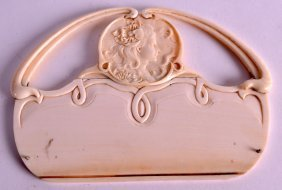 A European Art Nouveau Carved Ivory Tray Of Neo