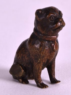 A Small Late 19th Century Austrian Cold Painted Bronze
