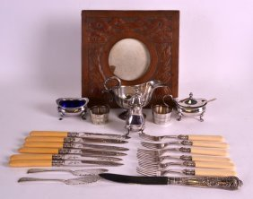 A Collection Of Assorted Silver Plated Flatware