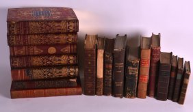 A Good Collection Of Antique Leather Bound Books