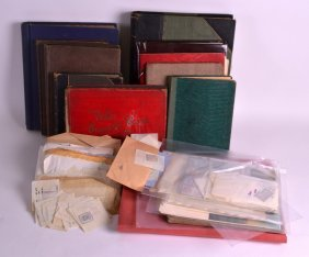 A Large Collection Of Stamps And Cigarette Cards To