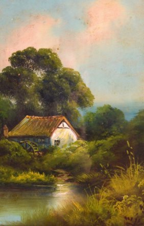 Continental School (c1900) Oil On Canvas, 'rural