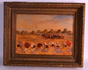 After Boudin (20th Century) Oil On Board, 'deauville