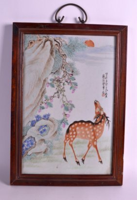 A Chinese Famille Rose Porcelain Plaque Qing/republic,
