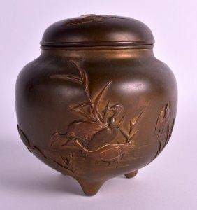 A Late 19th Century Japanese Meiji Period Bronze Koro