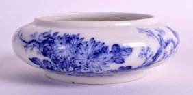A Chinese Blue And White Brush Washer 20th Century,