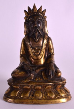 A Fine 19th Century Sino Tibetan Bronze Figure Of A