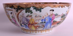 A Good 18th Century Chinese Export Porcelain Punch Bowl