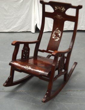 A Late 19th Century Chinese Hardwood And Mother Of