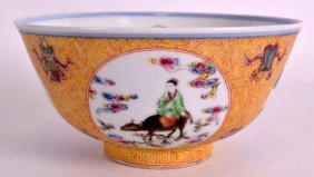 A Good 19th Century Chinese Famille Rose Medallion Bowl