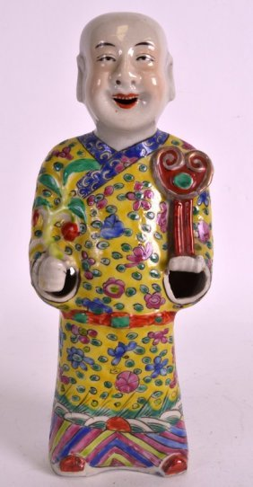A Mid 19th Century Chinese Famille Jaune Figure Of A