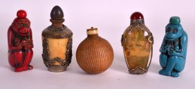 A Pair Of Chinese Figural 'monkey' Snuff Bottles 20th