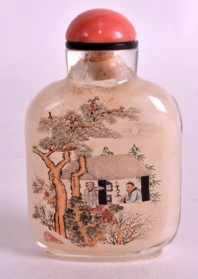 A Fine Late 19th Century Painted Snuff Bottle And