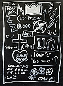 Untitled Oil Painting On Paper - Jean-michel Basquiat