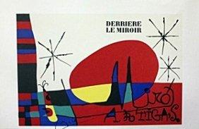 """Lithograph """"derriere Le Miroir"""""""