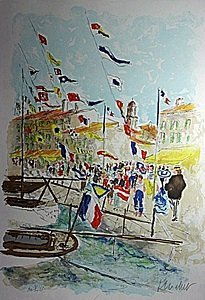 Limited Edition Lithograph By Artist Urbain Hutchet