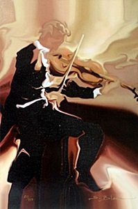 """Giclee """"classical Study Violin"""" After Steve Bloom"""